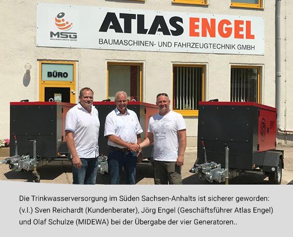 Atlas-Engel Vier Generatoren für die Versorgungssicherheit