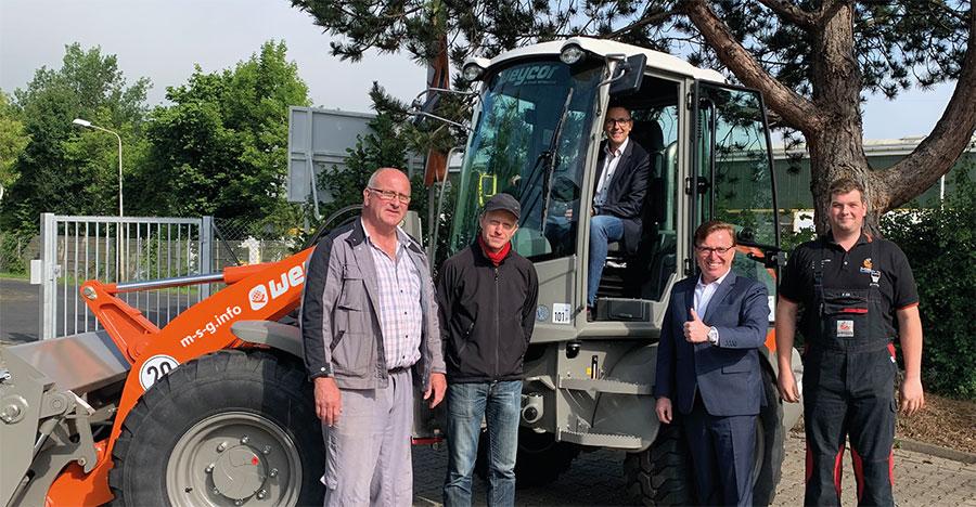 Die Stadt Borken hat ihren Maschinenpark um einen Weycor Radlader vom Typ AR 420 erweitert